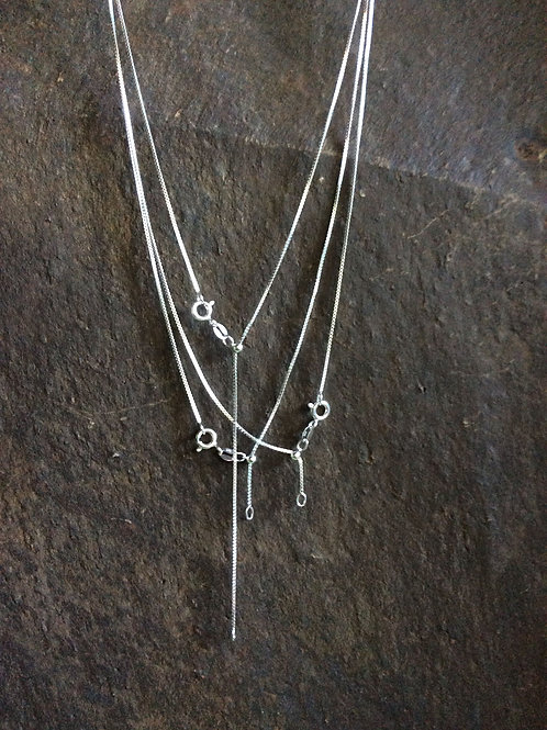 Sterling silver box chain necklace 0.80 mm  - CH449920