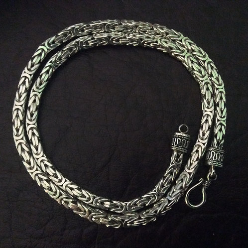 Sterling silver Byzantine chain necklace 5.0 mm | NLS998714