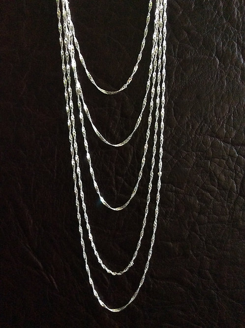 Sterling silver singapore chain 2.50 x 1.88 mm | CH449902