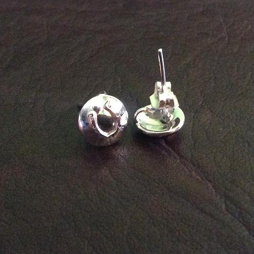 Sterling silver circle earring 10 mm | ER330037