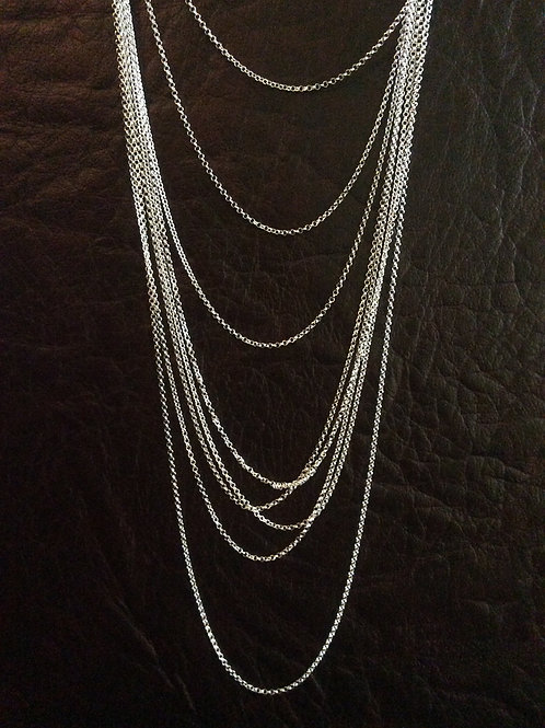 Sterling silver rolo chain 1.31 x 1.31 mm | CH449896