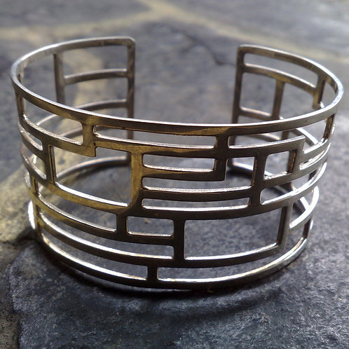 Sterling silver inspiration cuff 16 x 3.5 cm | CUFF06