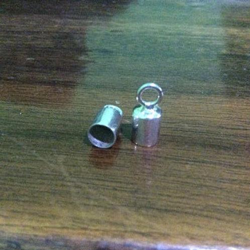 Sterling silver plain end cap 4.0 mm   EC998811