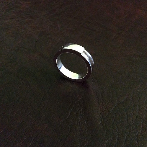 Sterling silver horsehair jewelry ring 3 x 1.5 mm | RG887821
