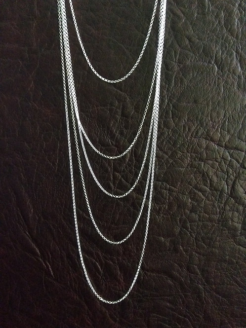 Sterling silver rolo chain 1.42 x 1.45 mm | CH449899