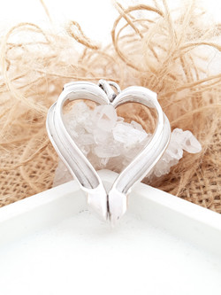 Sterling silver equestrian heart charm pendant