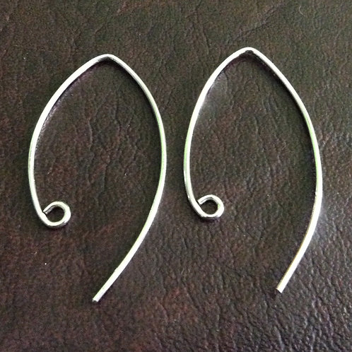 Sterling silver marquise earwire 39 mm   EW889151