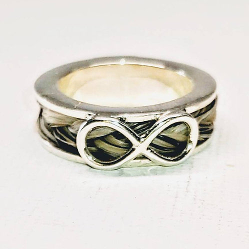 Sterling silver channel ring inside 5.0 x 3.0 x 8 mm | RG887830