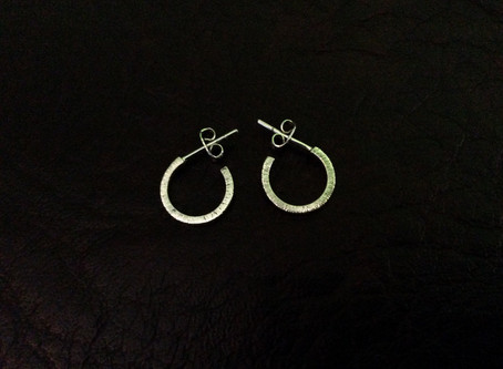 Sterling Silver Circle Post Earrings