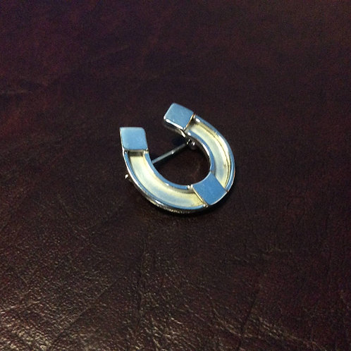 Sterling silver Horseshoe Brooch Pin 21 x 22 mm | BP818101