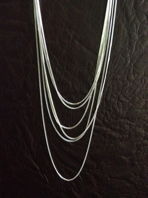 Sterling silver curb chain diamond cutting 2 sides - CH449883