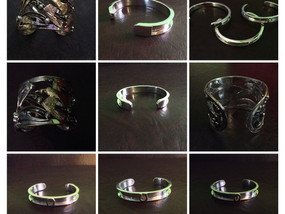 Sterling Silver Bangle, Cuff & Bracelet