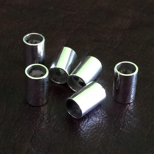 Sterling silver round slider tube length 8 x 4 mm inside | SL878828