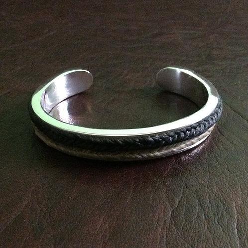 Sterling silver square channel cuff 60 x 45 x 8 mm   CUFF14
