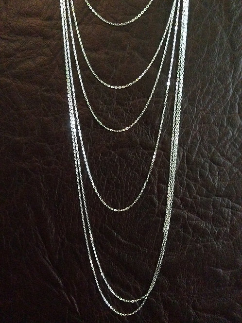 Sterling silver cable chain 1.41 x 1.02 mm | CH449889