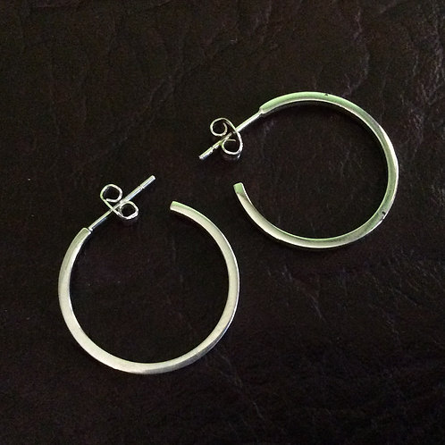 Sterling silver circle 22.75 x 1.3 square wire - ER330027