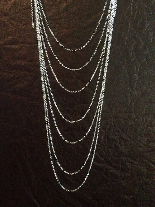 Sterling silver rolo chain 1.30 x 1.25 mm | CH449897