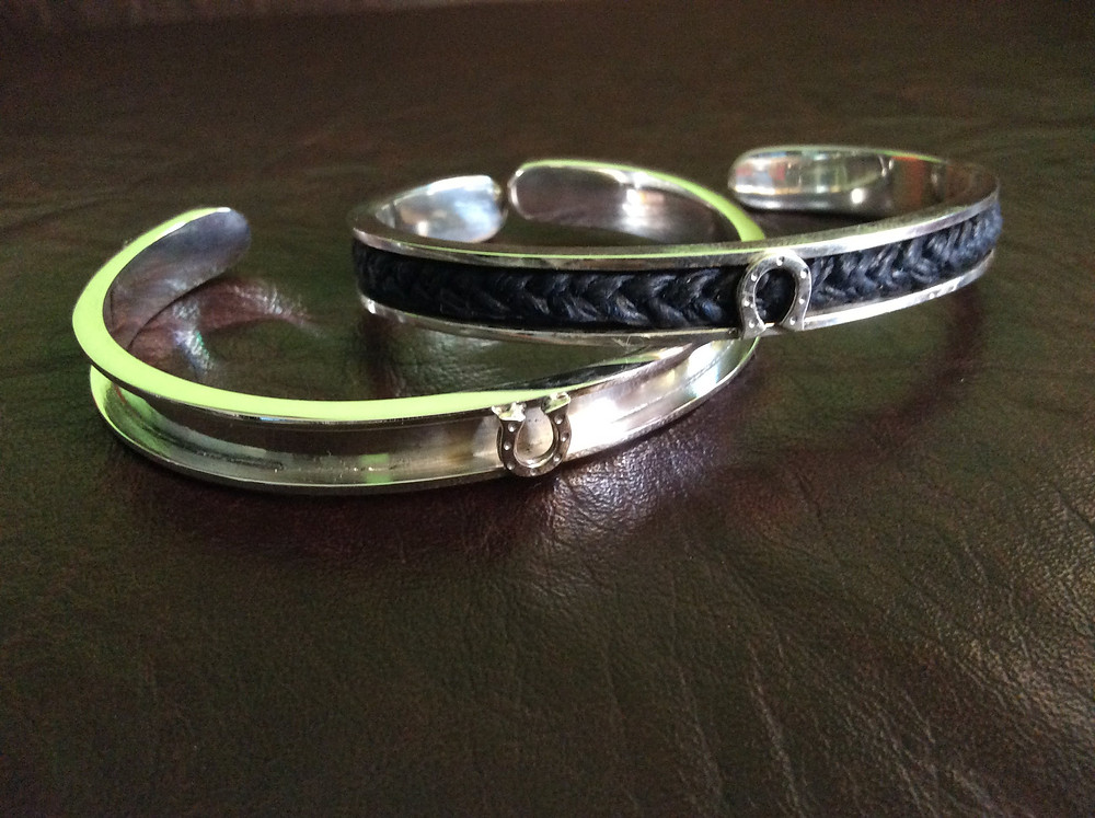 Sterling Silver Channel Cuff Equestrian Jewelry