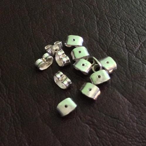 Sterling silver butterflies push back earring   EW889148