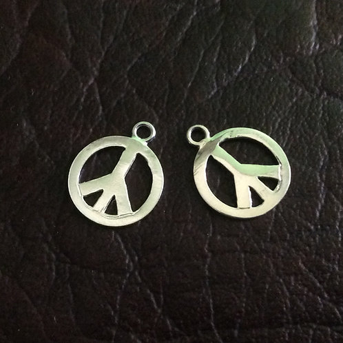 Sterling silver peace charm 11.50 mm | CH557129