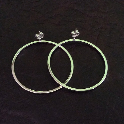 Sterling silver circle 40 x 1.5 square wire - ER330026
