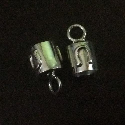 Sterling silver plain horseshoe end cap 6.0 mm | EC998828