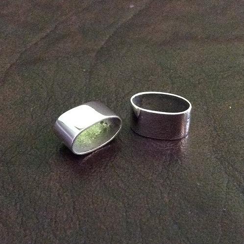 Sterling silver oval slider 5 x 10 x 6 mm | SL878829