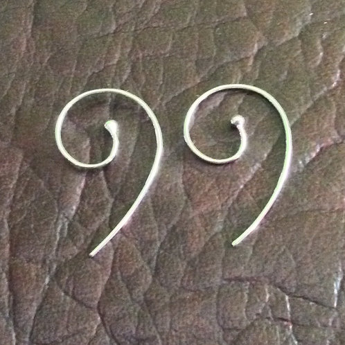 Sterling silver earwire 25.5 mm with 2.0 mm ball | EW889153