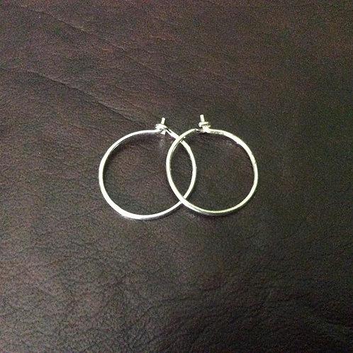 Sterling silver creole earwire 17 mm | EW889143
