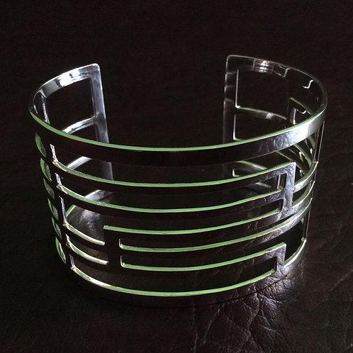 Sterling silver inspiration cuff 15.5 x 4 cm | CUFF08