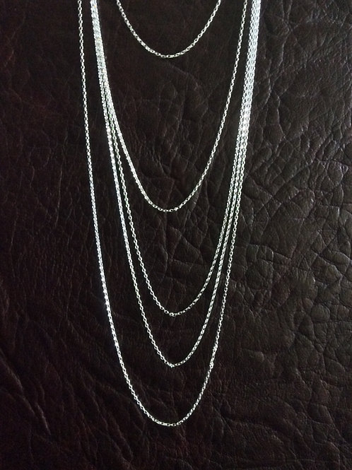 Sterling silver rolo chain 1.50 x 0.96 mm | CH449898