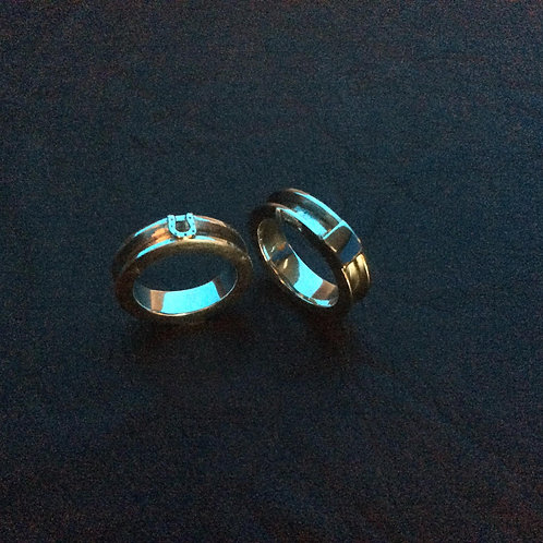 Sterling silver channel ring 3.0 x 2.5 mm x 5.5 mm | RG887814