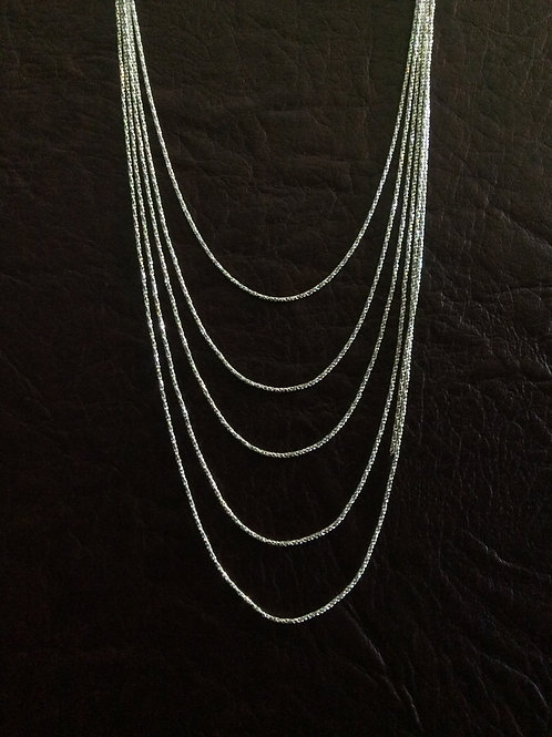 Sterling silver rope chain 1.25 mm | CH449906