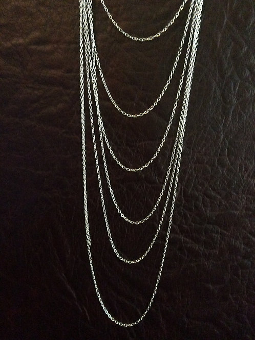 Sterling silver cable chain 2.10 x 1.50 mm | CH449891
