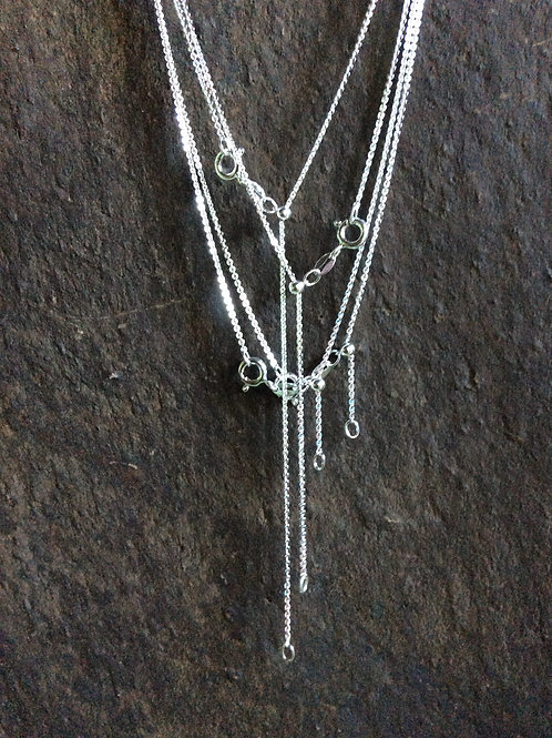 Sterling silver round cable chain necklace 1.40 x 1.19 mm - CH449923