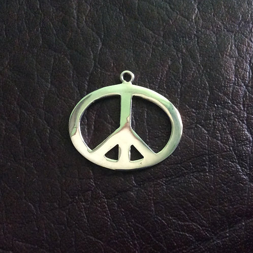Sterling silver peace charm 25 x 20 mm   CH557130