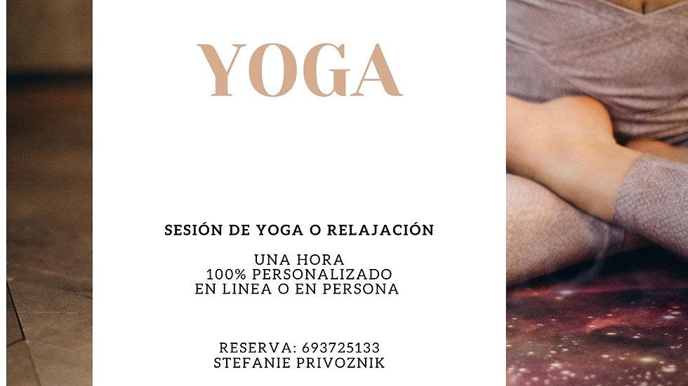 Sesión de Hatha Yoga
