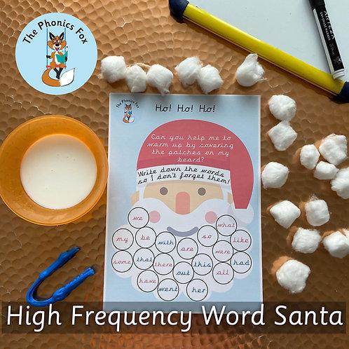 High Frequency Word Santa's Beard