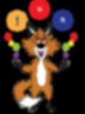 The Phonics Fox Juggling letters