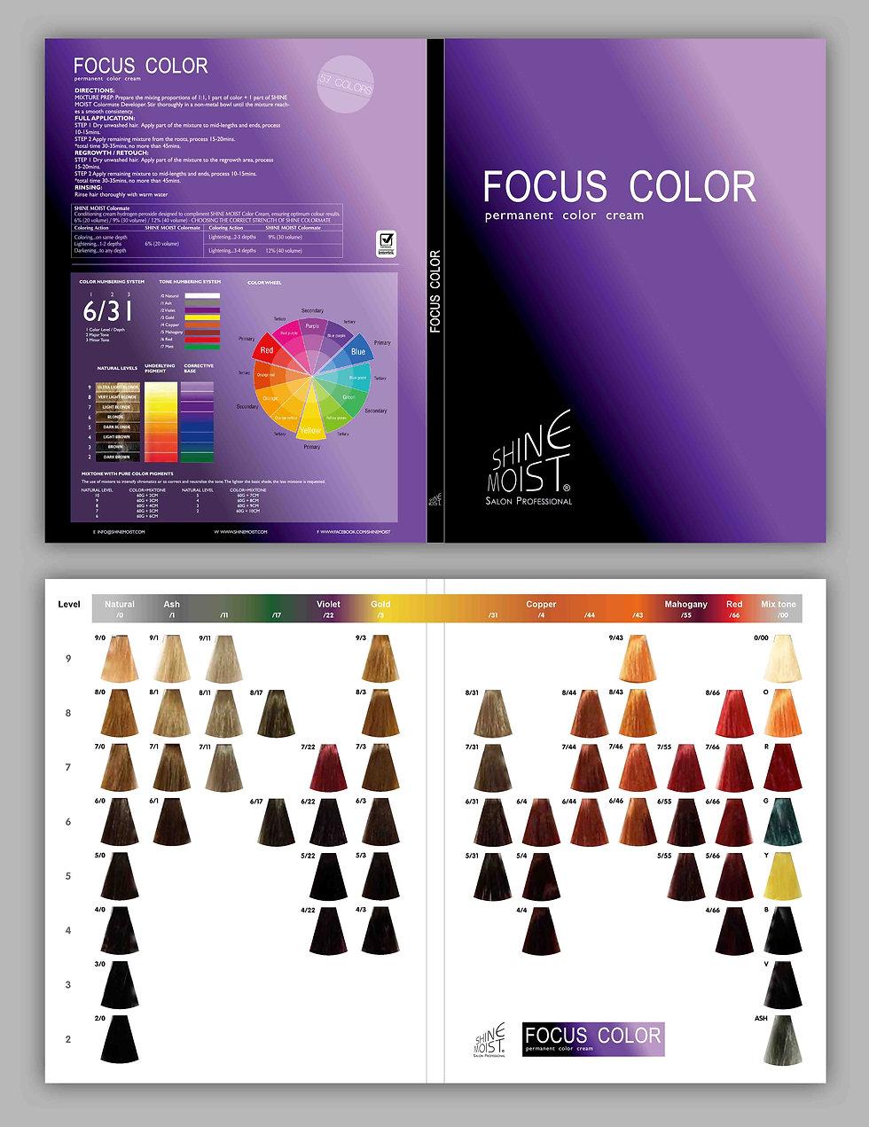 Focus Color Color Chart 2019 57 COLOURS.