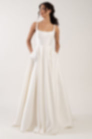 Jenny Yoo Lawrence gown front view