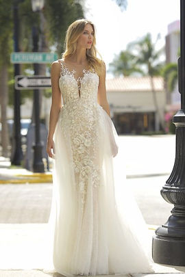 Randy Fenoli Astrid gown front view with overskirt