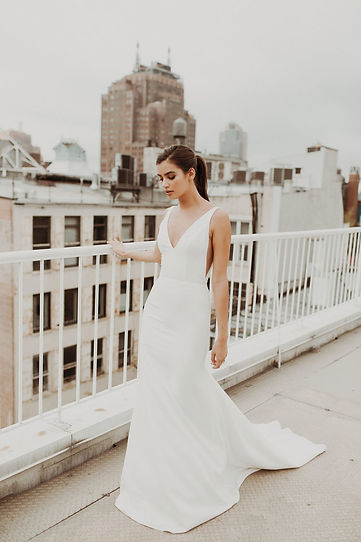 Sarah Seven wedding gown style Belmont Front