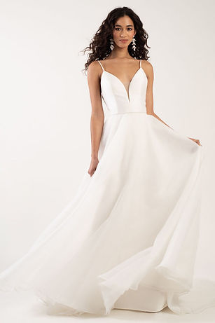 Jenny Yoo Lorelei gown front view