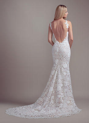 Blush by Hayley Paige Atlas gown back view