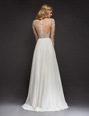 Hayley Paige Pascal gown back view