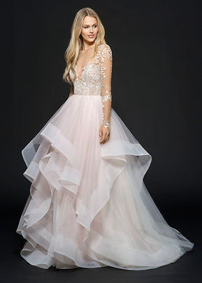 Hayley Paige Lorelei gown front view