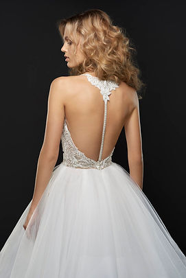 Hayley Paige Jax gown back view
