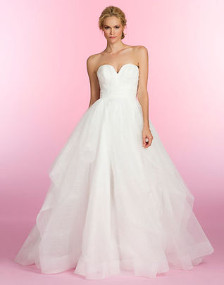 Hayley Paige Esther gown front view