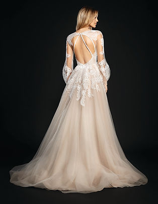 Hayley Paige Winnie gown back view